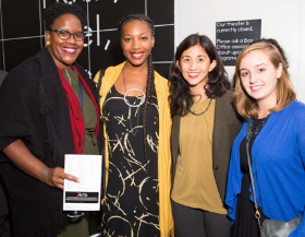 Mariam Thiam, Birdie Soti, Dominique (3Arts Winner), Sarah Pietlicki and Lobie Boyd