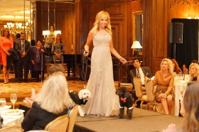 Honoree Kristina McGrath (wearing Macy's) with her cute schnoodles