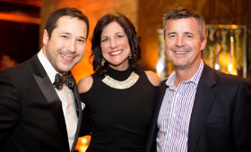 Collin Pierson, emcee Dina Bair and John Maher