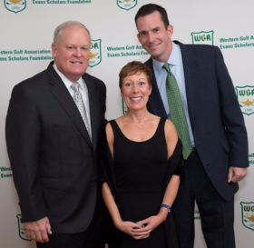 Johnny Miller with Anne and Patrick McEnroe