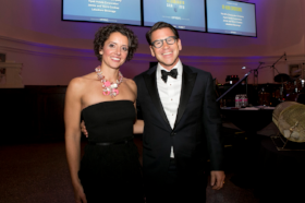 Gala co-chairs Carly Warren and Thad Wong