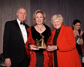 Honorees Steve and Peg Lombardo with Sister Rosemary Connelly