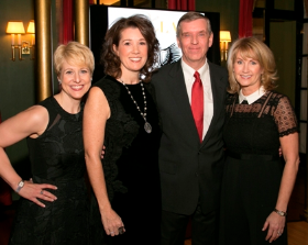 Caroline Huebner (Women's Board President); Bridget Campbell (co-chair); Kevin Bell (President/CEO of Lincoln Park Zoo) and Beth Kies (co-chair)