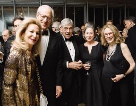 Carol Prins, John Hart, David and Alexandra Earle and Helen Harvey Mills