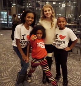 Radio Disney's Tegan Marie with members of The Happiness Club