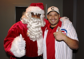 Santa and event host Joe Minoso (Chicago Fire)