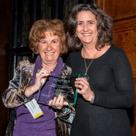 Marilyn Eisenberg with Gigi Pritzker, recipient of the Champion for Children Award