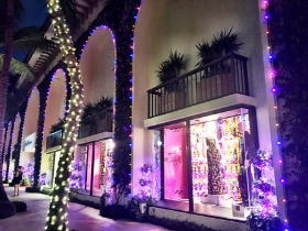 Saks Palm Beach's holiday decor was outstanding!