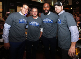 Anthony Rizzo, Taylor Kinny, Jason Heyward and Kerry Wood