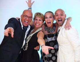 With honoree Greg Hyder, Susan Ellefson and Quenten Schumacher (Photo by Caitlin Saville Collins)