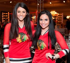 Blackhawk girls Erin Mangia and Katie Machalinksi