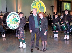 Dr. Joe Schmidt and Sheryl Dyer take center stage with the Shannon Rovers