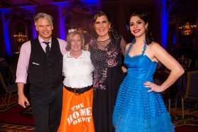 Lee Allison (corporate challenge dance champ), Joan Morris (The Home Depot), Jane Melvin (DWCC board member), Dr. Regina Stein (Northwestern)