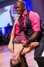 Arthur Murray dancer Brianna Miller, Lee Henderson (corp. MVP, Ernst & Young)