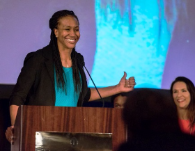 Four-time Olympic Gold Medalist and former WNBA star Tamika Catchings