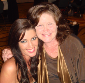 Crystal McCahill with her fellow Playmate/mother Gale Olson