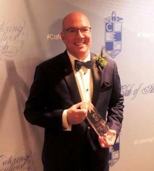 Greg Hyder with his CECA Achievement Award