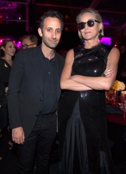 Alex Israel and Sharon Stone