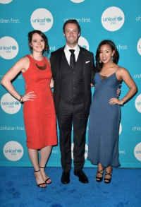 UNICEF's Next Generation Chicago Steering Committee members Erin Delawalla, Jeff Feste and Ilana Alvarenga
