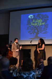 "Stars of Porchlight's current hit Stephen Sondheim's ""Marry Me a Little,"" Austin Cook and Bethany Thomas, perform for the ICONS audience"