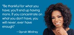 Gratitude-oprah