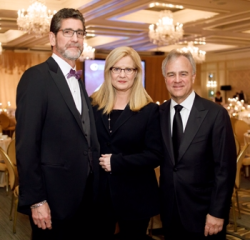 Emcee/actress Bonnie Hunt (center), Dr. Michael Ruchim (R) and Lee Gould.