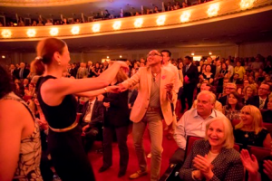 Pink Martini performance inspires a conga line in the audience!