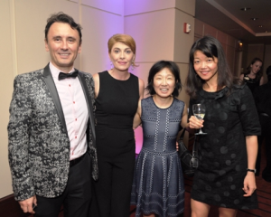 Dan and Raluca Nicolae, Amy Boonstra and CSO violinist Qing Hou