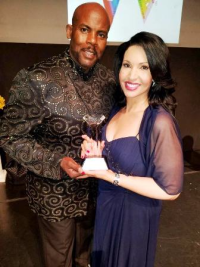 We Dream in Color Foundation founder/event producer Quinton d'Alexander and honoree Suzanne LeMignot