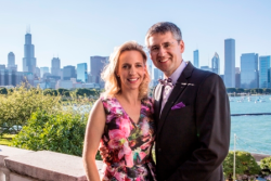 Shedd Aquarium pres/CEO Bridget Coughlin and husband Brian Wegner