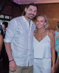 Former Chicago Blackhawk Brent Sopel and Shannon Antipov