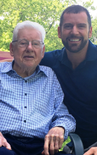 The late Luke Kehoe with his son Tom