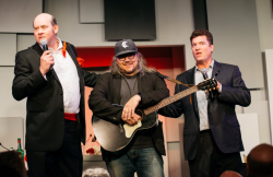 David Koechner, Jeff Tweedy and Pat Finn