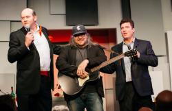 David Koechner, Jeff Tweedy and Pat Finn
