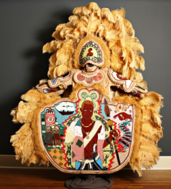Part of stunning Mardi Gras Indian exhibition at The Golden Triangle