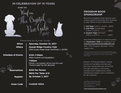 Crystal Paw Gala Oct. 21