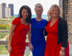 Judy Hsu with Chicago Tribune's Heidi Stevens and Amy Carr