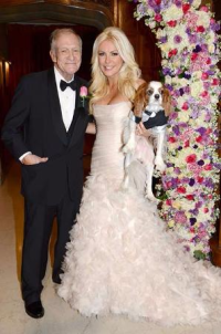 Hef and Crystal Harris' wedding (Photo by Elayne Lodge)
