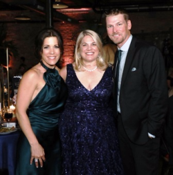 Sarah Wood, Laura Ferris Anderson (honoree) and Kerry Wood