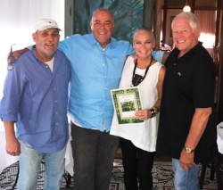 With owner of St. Louis Lemp Mansion restaurant (Paul Pointer, 2nd from L) with Rod Lavender and Chuck
