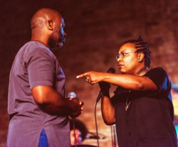 Theaster Gates and performer/artist Meshell Ndegeocello.