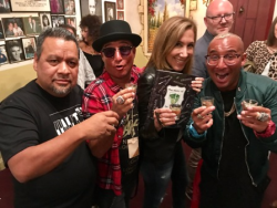 Author/restaurateur Armando Vasquez with Nina Mariano and the Landan Twins