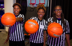 Teens Maya, Kennedy and Nekita invited guests to play a game of double shot during the gallery hour of ASM Gala