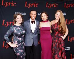 Lyric Young Professionals Lisa DeAngelis, J.J. Williams, Claudine Tambuatco, Martha Grant