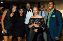 Board Members Regina Cross, Charles E. Harris, II, Beverly Price, and guests