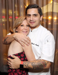 Lesley Prizant Goodman with Cochon Volant Brasserie executive chef Matt Ayala