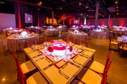 Dramatic gala decor by Kehoe Designs