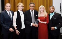 Dr. Gary Slutkin, Jan and Ramsey Lewis, Diane Weinberg, Jalon Arthur