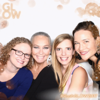 With cute friends Kristan Lieb, Liz Kores and Whitley Bouma Herbert