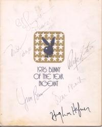 My signed International Playboy Bunny of the Year program book, 1976.